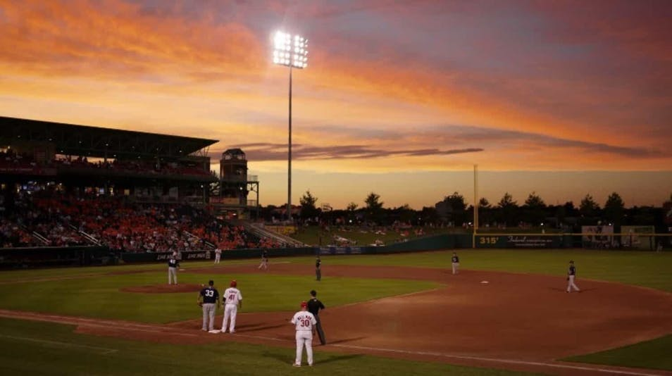 A screenshot of the Springfield Cardinals playing a game. Photo by Richard Banks