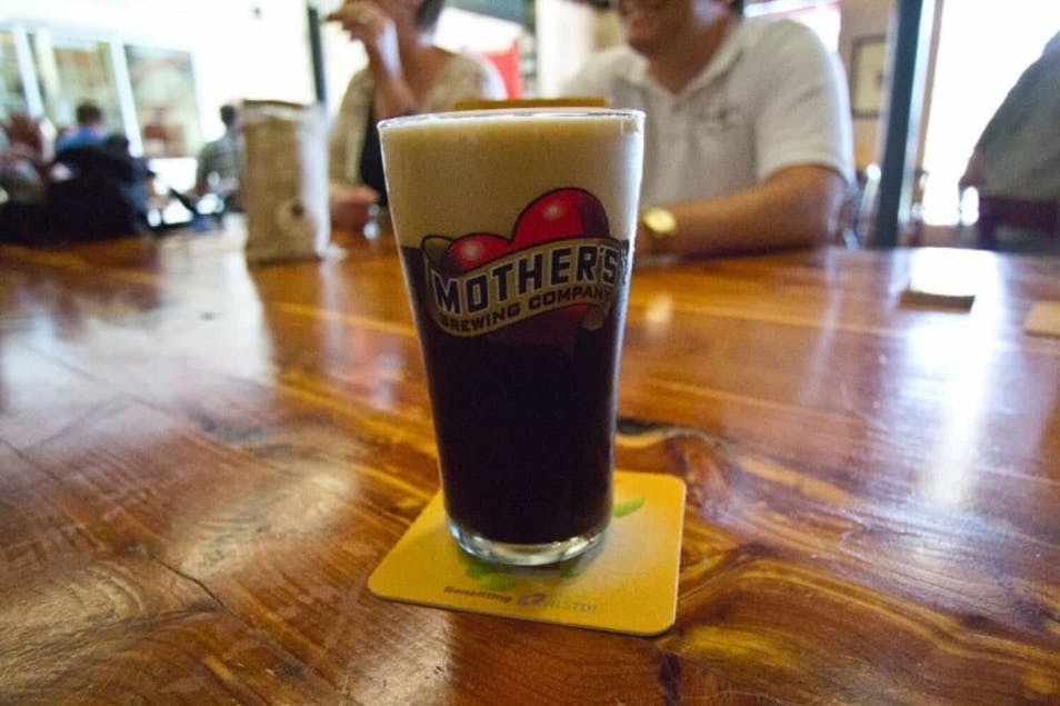 A glass of Mother's beer