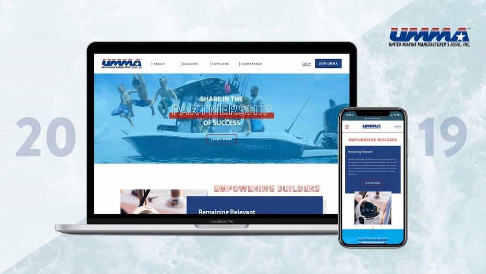 A screenshot of the new UMMA website