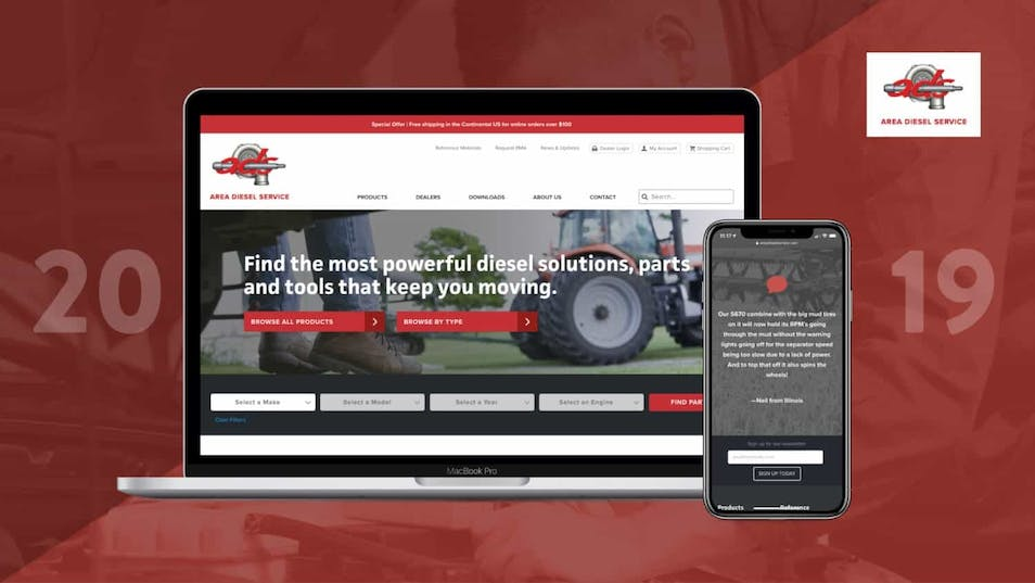 A new homepage for Area Diesel Service