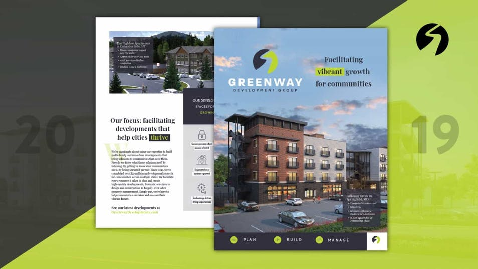 A new website and collateral for Greenway Development Group