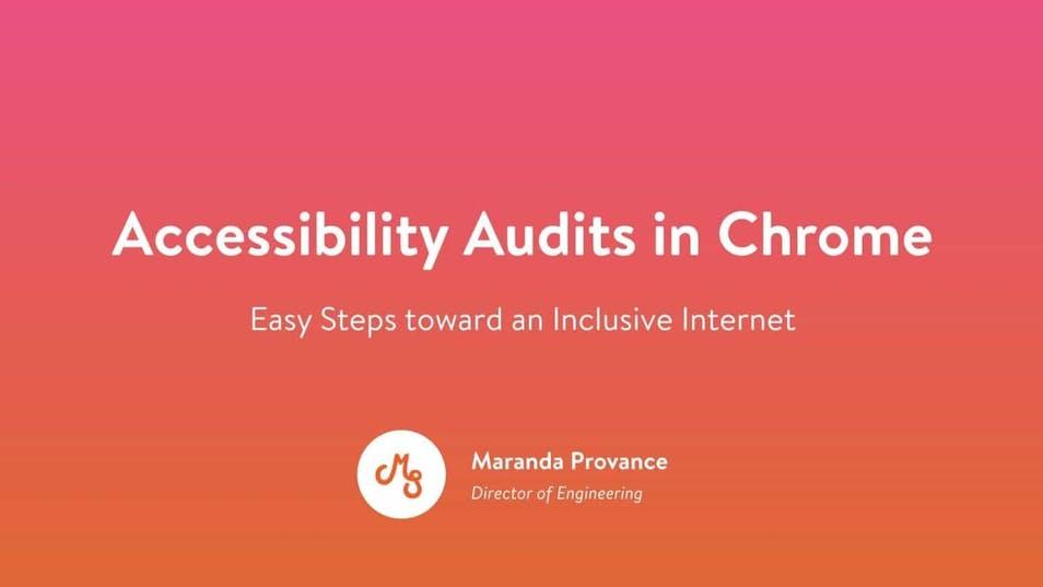 A screenshot from Maranda's accessibility presentation