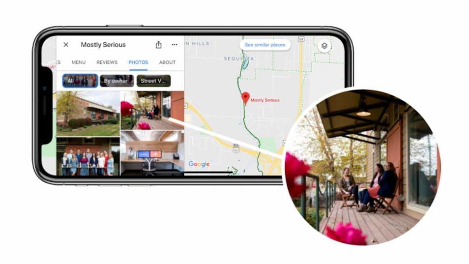 A screenshot of Google My Business photos