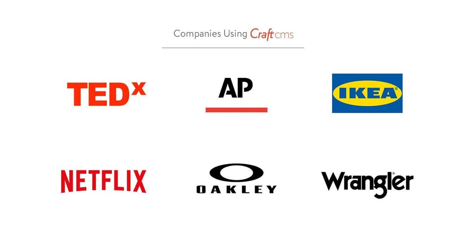 A collection of logos of companies who use Craft CMS
